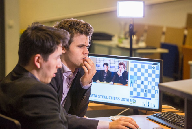 2018-01-25 23_41_52-Carlsen, Giri, Mamedyarov Lead Tata Steel Chess - Chess.com